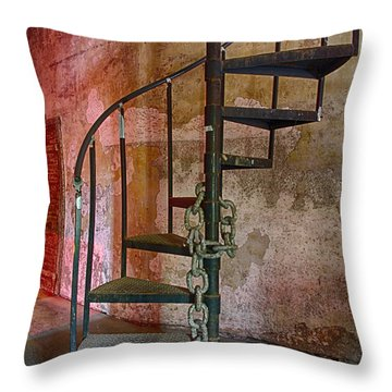 Stairs To Nowhere Throw Pillow by Patricia Schaefer