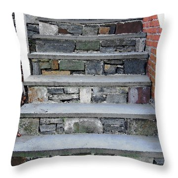 Throw Pillow featuring the photograph Stairs To The Plague House by RC DeWinter