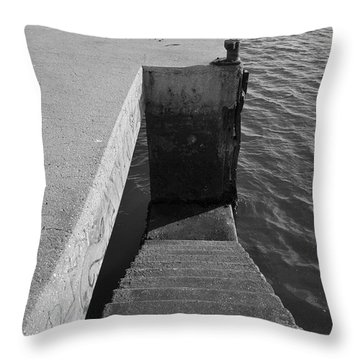 Stairs To Water Throw Pillow by Angelo DeVal