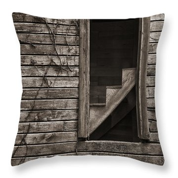 Stairs With A View Throw Pillow