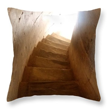 Stairway From Heaven Throw Pillow