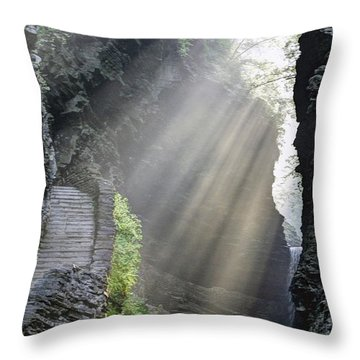 Stairway Into The Light Throw Pillow