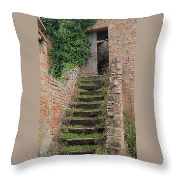 Stairway Less Traveled Throw Pillow