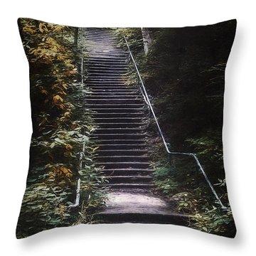Stairway Throw Pillow