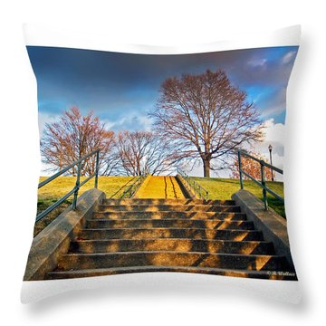 Stairway To Federal Hill Throw Pillow by Brian Wallace