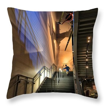 Stairway To Flight Throw Pillow
