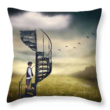 Stairs Throw Pillows