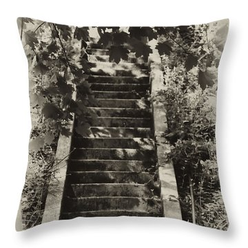 Stairway To Heaven Throw Pillow by Bill Cannon