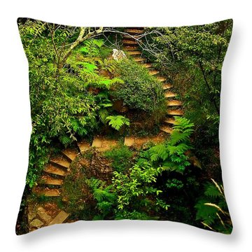 Stairway To Heaven Throw Pillow by Blair Stuart