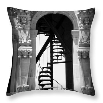 Stairway To Heaven Bw Throw Pillow