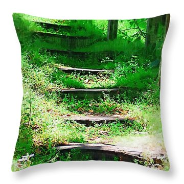 Throw Pillow featuring the photograph Stairway To Heaven by Donna Bentley