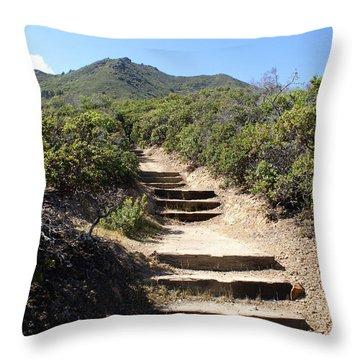 Stairway To Heaven On Mt Tamalpais Throw Pillow