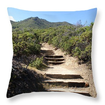 Stairway To Heaven On Mt Tamalpais Throw Pillow