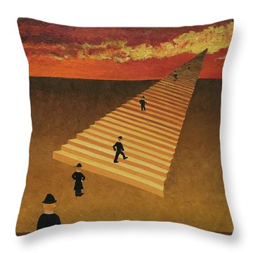 Stairway To Heaven Throw Pillow by Thomas Blood