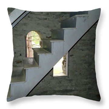 Stairway To The Bells Throw Pillow