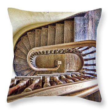 Stairway To The Past / Stairway To The Future Throw Pillow