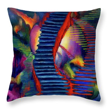 Stairways Throw Pillow