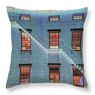 Stairwell At 2am Throw Pillow