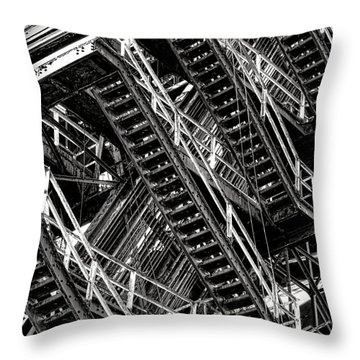 Stairwell Hell Throw Pillow