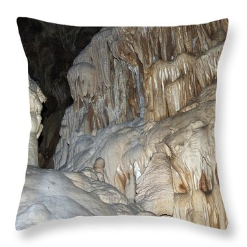 Stalactite Formations Throw Pillow by Michal Boubin