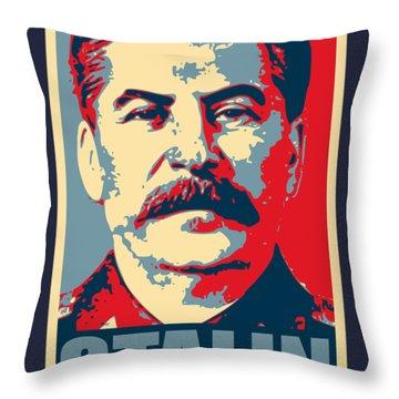 Stalin Propaganda Poster Pop Art Throw Pillow