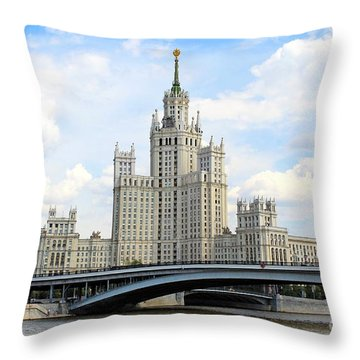 Kotelnicheskaya Embankment Building Throw Pillow