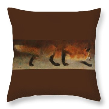Stalking Fox Throw Pillow