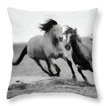 Throw Pillow featuring the photograph Stallion  by Kelly Marquardt