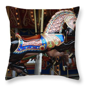 Throw Pillow featuring the photograph Stallion by Rob Hans