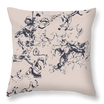 Stallions Inc. Throw Pillow