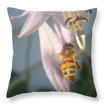 Stamen Attraction Throw Pillow