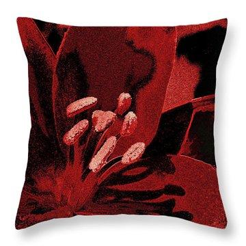 Stamen Frost Throw Pillow