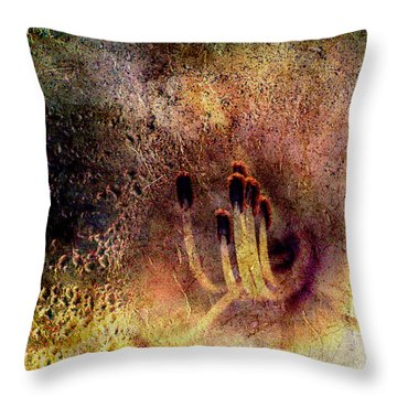 Stamins Of A Daylily Throw Pillow