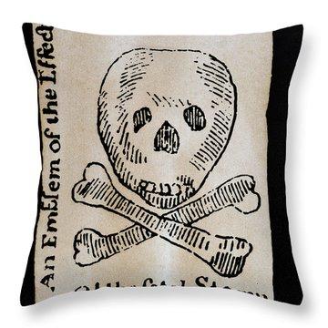 Stamp Act: Cartoon, 1765 Throw Pillow by Granger