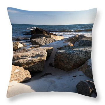 Throw Pillow featuring the photograph Stamped by Michelle Wiarda
