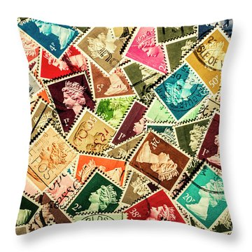 Post Offices Throw Pillows
