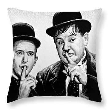 Stan And Ollie Throw Pillow