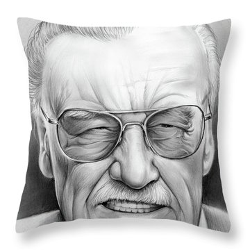 Stan Lee Throw Pillow