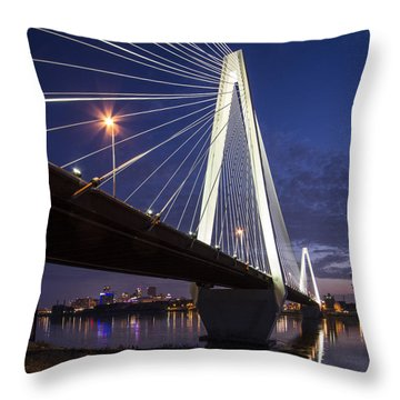 Stan Musial Bridge St Louis Throw Pillow