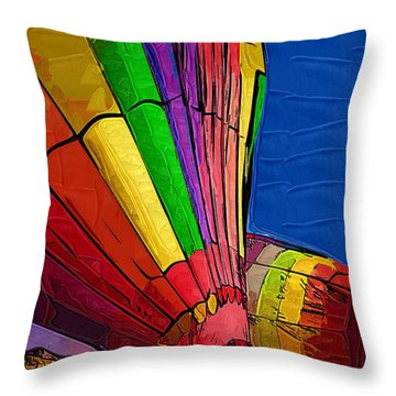 Throw Pillow featuring the digital art Stand It Up by Kirt Tisdale