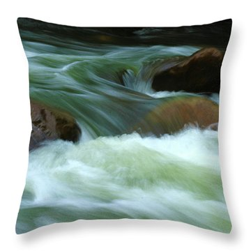 Throw Pillow featuring the photograph Stand Like A Rock by Marie Leslie