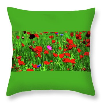Throw Pillow featuring the digital art Stand Out by Timothy Hack