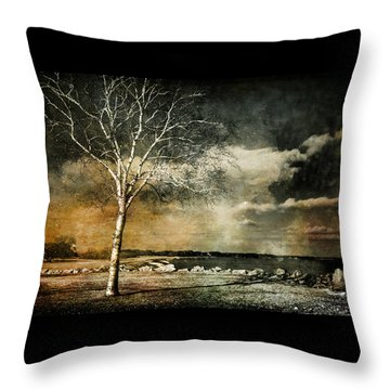 Stand Strong Throw Pillow by Susan McMenamin