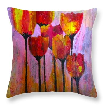 Stand Up And Shine Throw Pillow by Terry Honstead