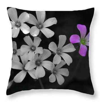 Throw Pillow featuring the photograph Stand Up Stand Out by Maggy Marsh