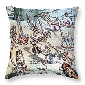 Standard Oil Cartoon Throw Pillow by Granger