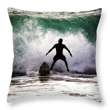 Standby Surfer Throw Pillow by Jim Albritton