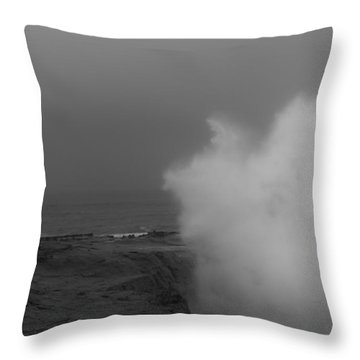 Standing Against Nature Throw Pillow