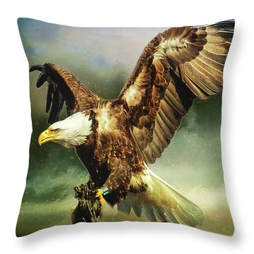 Standing Against The Storm Throw Pillow