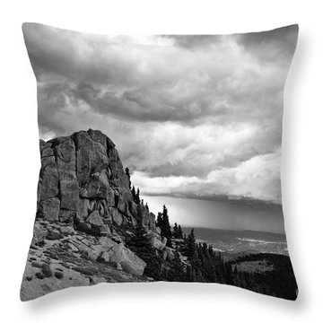 Standing Against The Storm Throw Pillow by Scott Pellegrin